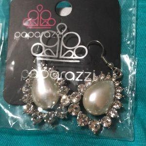 White Star Pearl Earrings